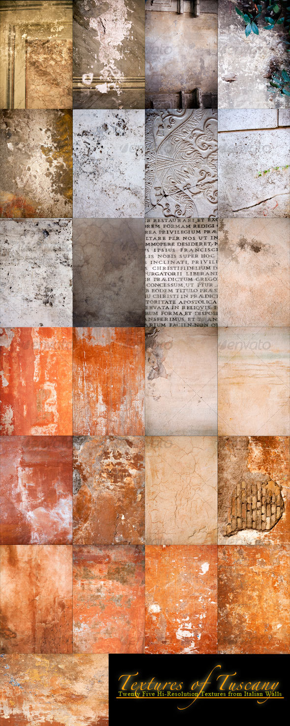 GraphicRiver 25 Textures of Tuscany 71588