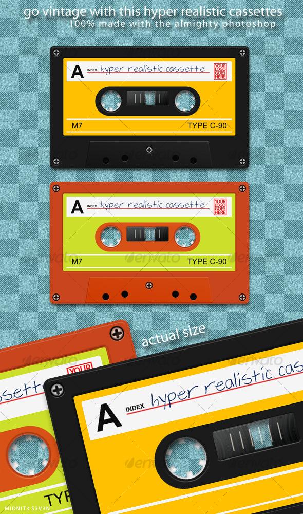 GraphicRiver Hyper Realistic Cassette 71711
