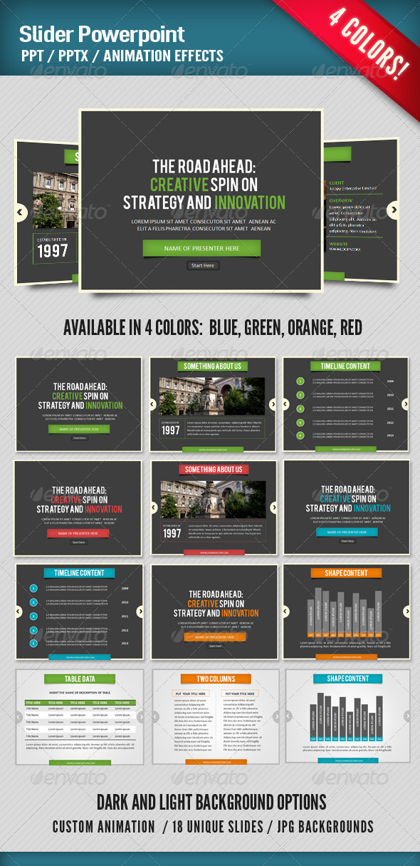 Graphic River Slider Presentation Presentation Templates -  Powerpoint Templates 754864