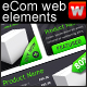 eCommerce Web elements, dark grey + green - GraphicRiver Item for Sale