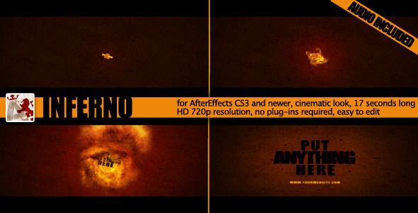 After Effects Project - VideoHive Inferno Fire Reveal 1845896