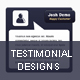 Testimonial Designs - GraphicRiver Item for Sale