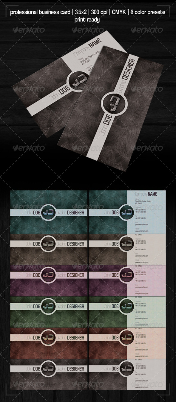 GraphicRiver Metal Business Card 218090