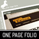 One page folio - ThemeForest Item for Sale