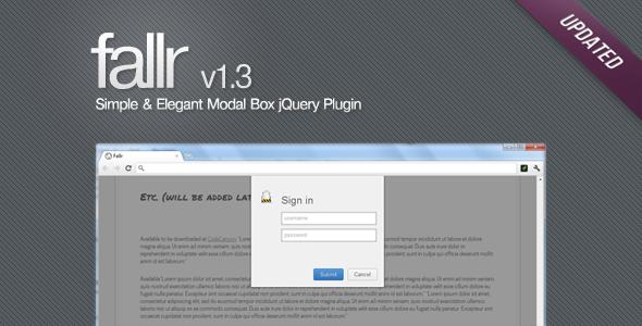 CodeCanyon Fallr Simple & Elegant Modal Box jQuery Plugin 372581