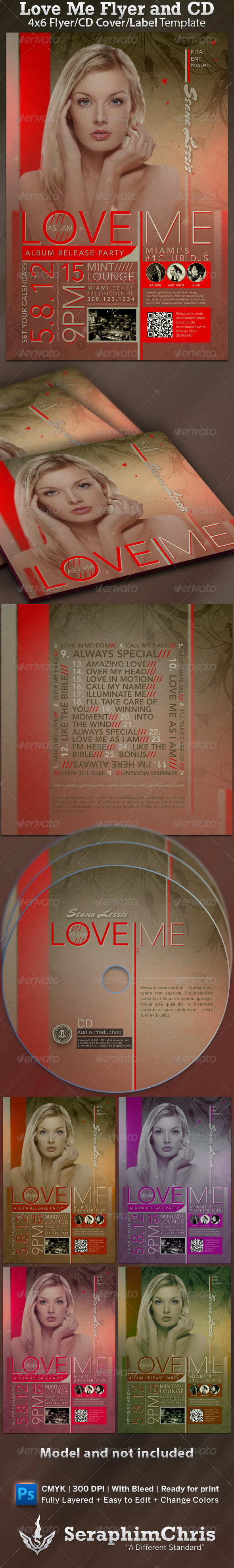 Graphic River Love Me CD Cover and Flyer Template Print Templates -  CD & DVD artwork 1545746