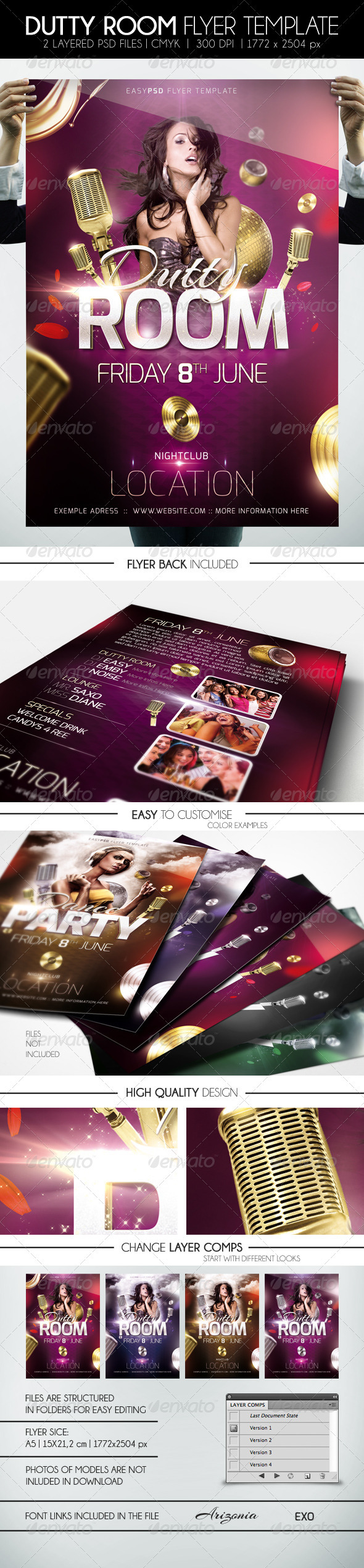GraphicRiver Dutty Room Flyer Template 1791433