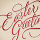 'Easter Greetings' Hand Lettering (vector) - GraphicRiver Item for Sale