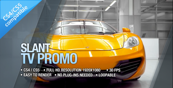 After Effects Project - VideoHive Slant TV Promo 504241