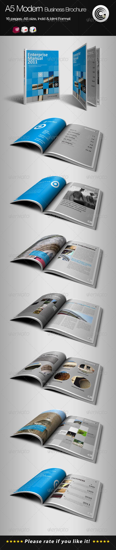 GraphicRiver A5 Vertical Modern Business Brochure 664030