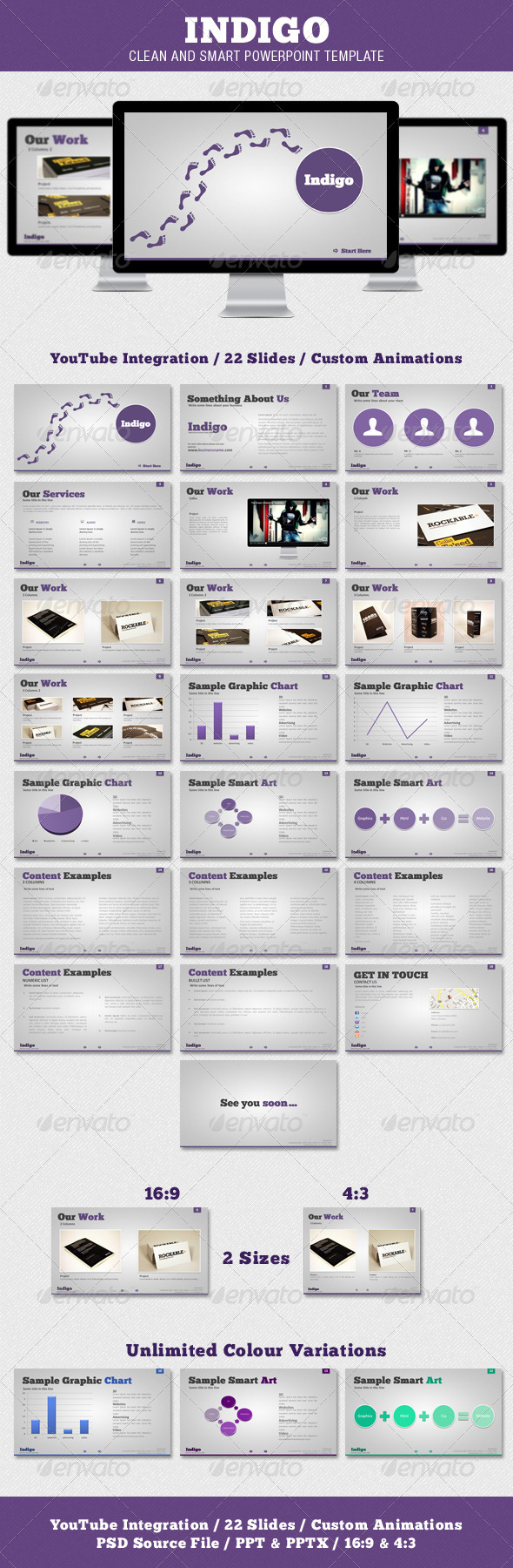 GraphicRiver Indigo Clean and Smart Powerpoint Template 1283035