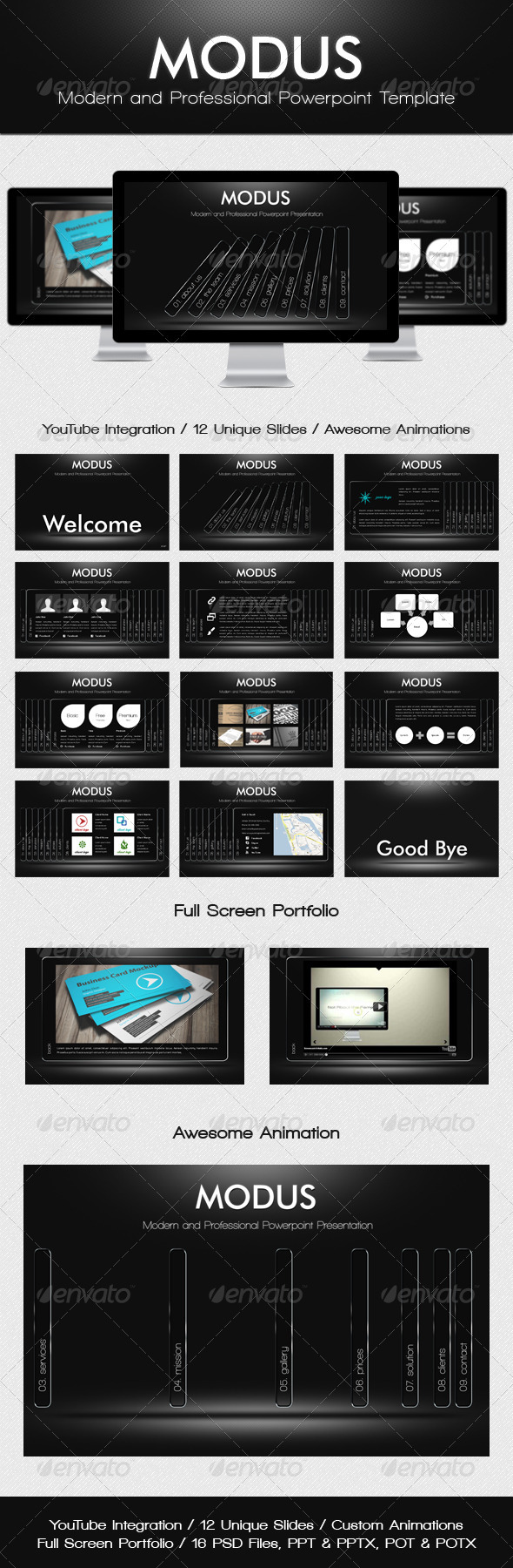 GraphicRiver Modus Modern Powerpoint Template 1629550