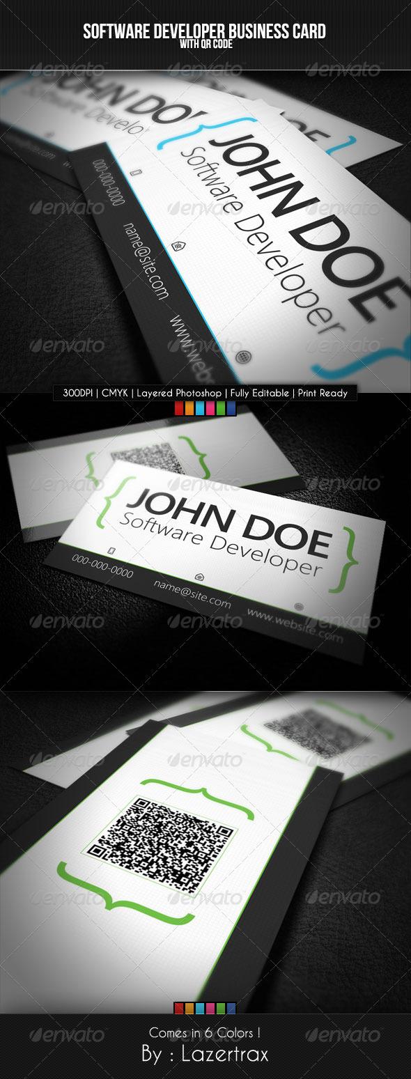 GraphicRiver Software Developer Business Card 1865118