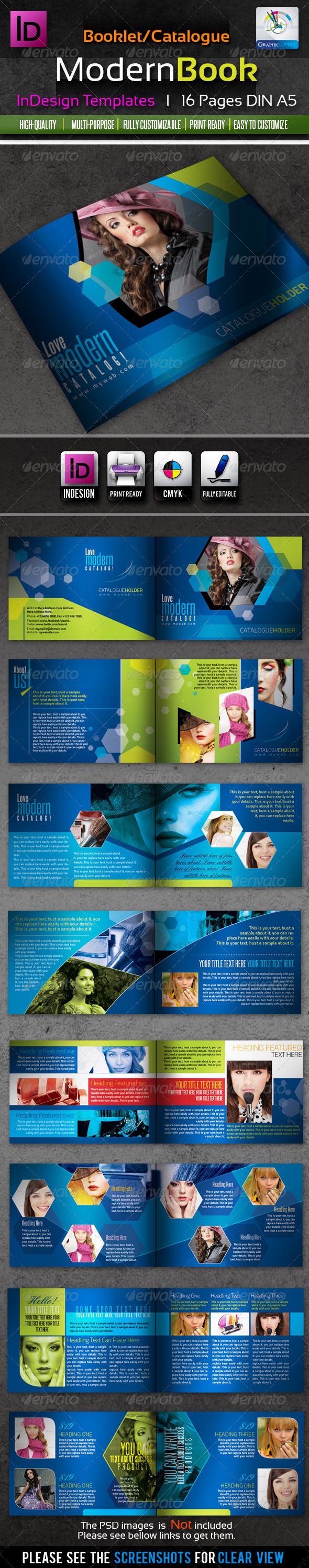 GraphicRiver Corporate InDesign Modern Booklet Catalog 16pages 1866935