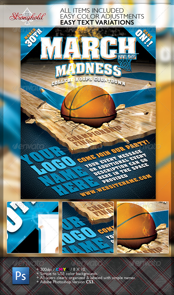 GraphicRiver March Madness Championship Flyer 1867029