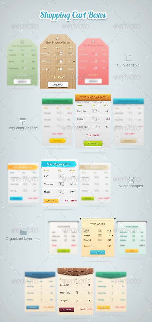 GraphicRiver Shopping Cart Boxes 1867930