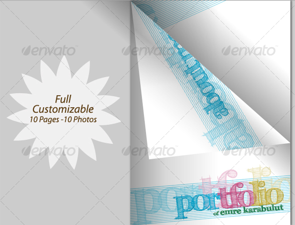 GraphicRiver Minimalist & Colorful Portfolio Mazagine & PDF 72517