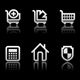 Simple icons on black background - Set 4  - GraphicRiver Item for Sale