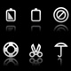 Simple icons on black background - Set 5 - GraphicRiver Item for Sale