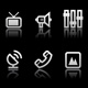 Simple icons on black background - Set 6 - GraphicRiver Item for Sale