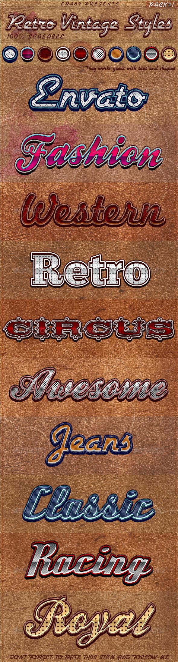 GraphicRiver Retro Vintage Styles 1854525