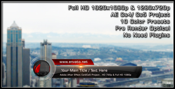VideoHive Glass Ball Lower Third 1869598