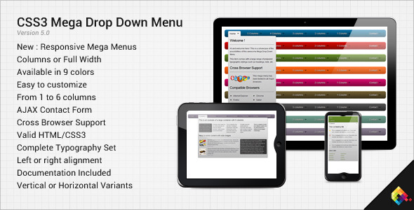 15 Dynamic CSS3 Menus from CodeCanyon Sellers - CSS3 com