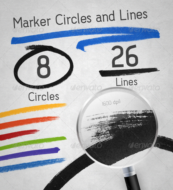 GraphicRiver Marker Lines and Circles Pack 1870236