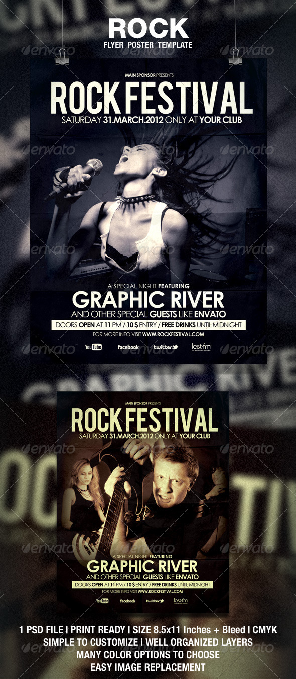 GraphicRiver Rock Flyer Poster 1870427