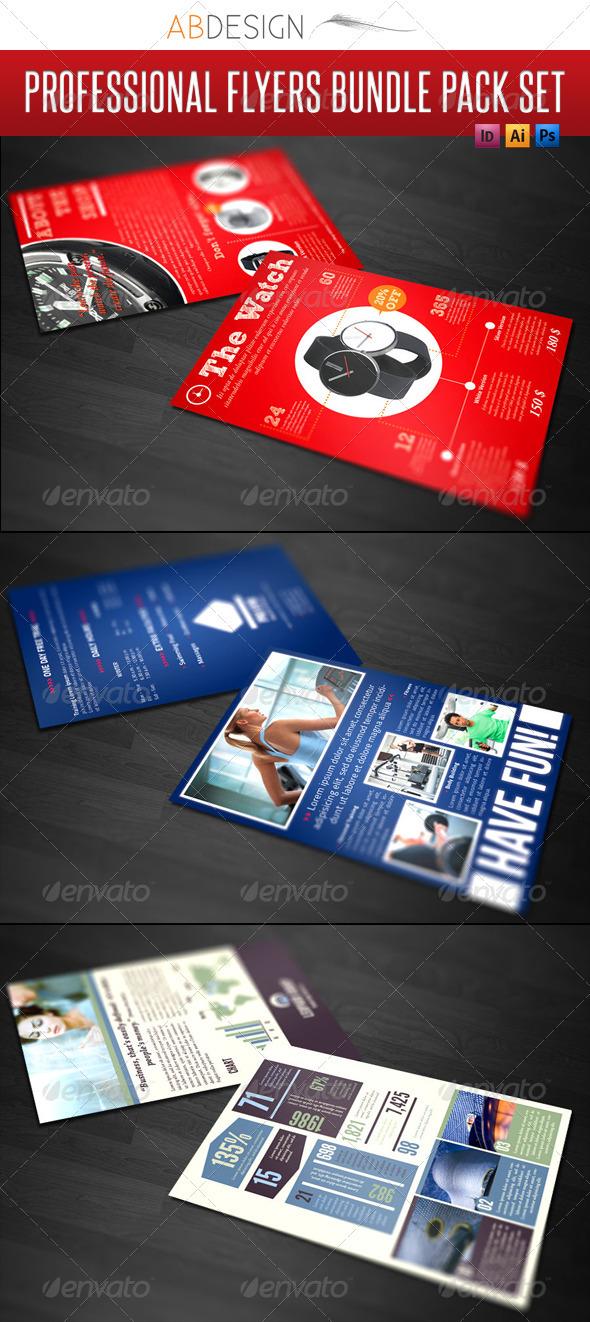 GraphicRiver 3 Professional Flyers Bundle Pack Set 813178