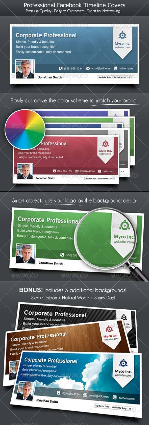 GraphicRiver Facebook Timeline Cover for Corporate Professional 1871016