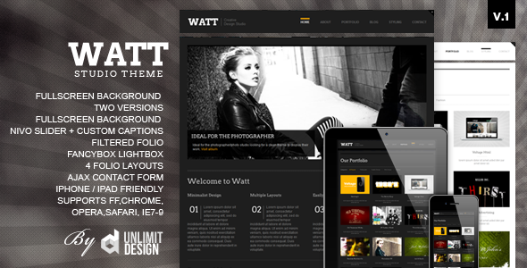 ThemeForest – WATT Creative Html Studio Template v.1