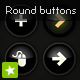 Black round animated icon set buttons - ActiveDen Item for Sale
