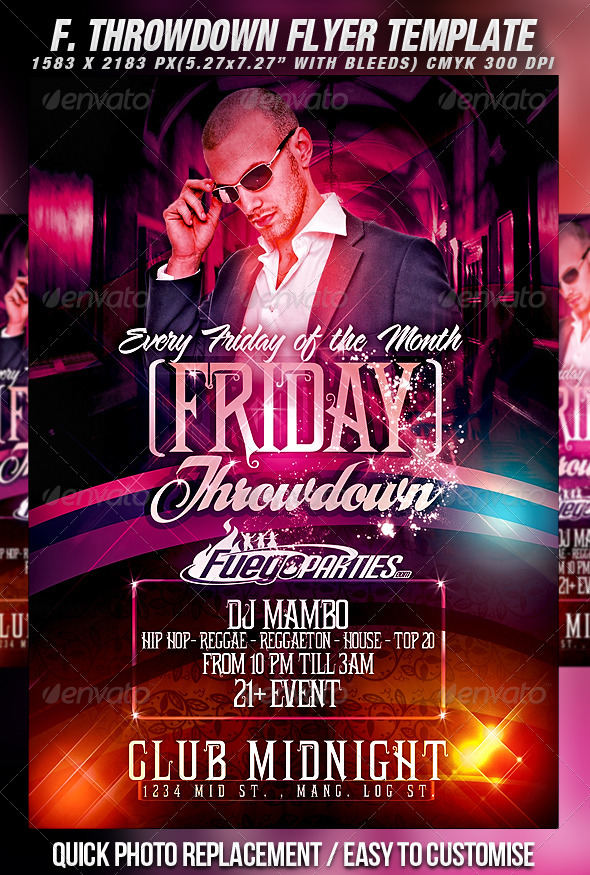 GraphicRiver Friday Throwdown Flyer Template 459761