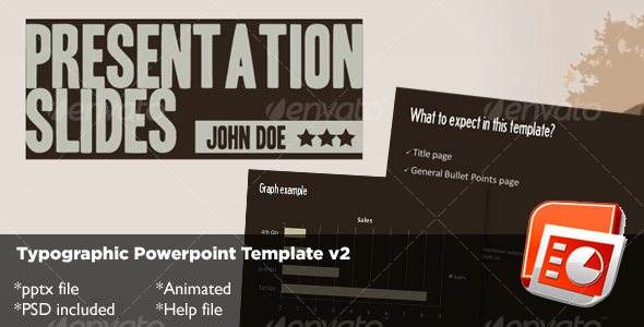 Graphic River Typography Powerpoint Template v2 Presentation Templates -  Powerpoint Templates  Creative 72678