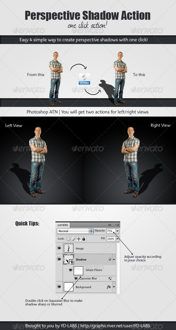 GraphicRiver Perspective Shadow Action 1873148
