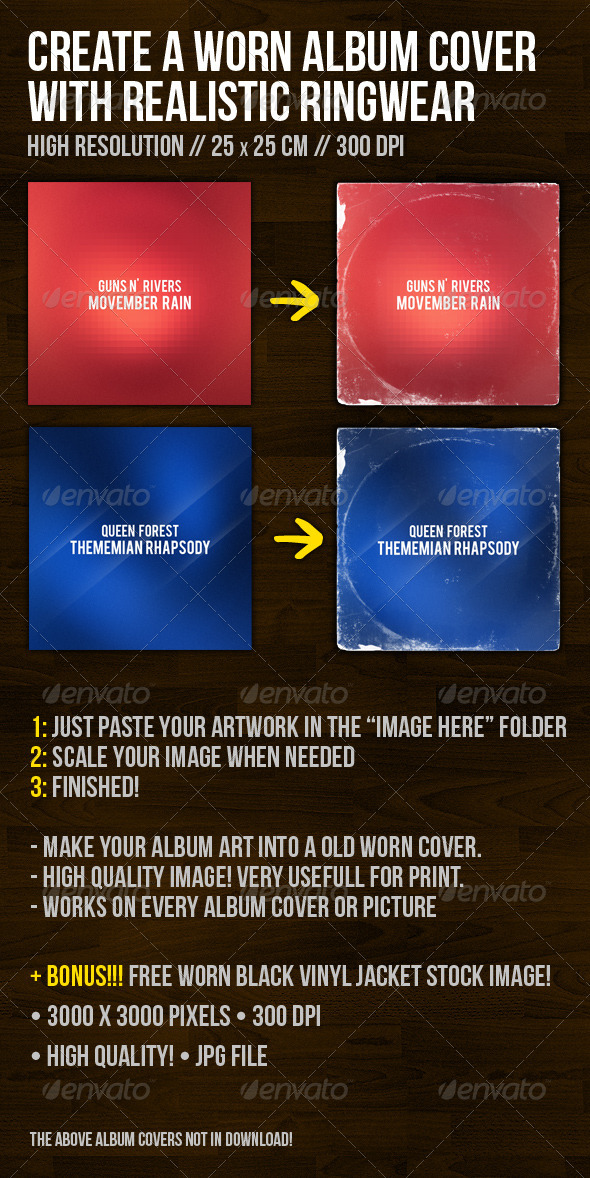GraphicRiver Create A Worn Album Cover With Ringwear 1239410