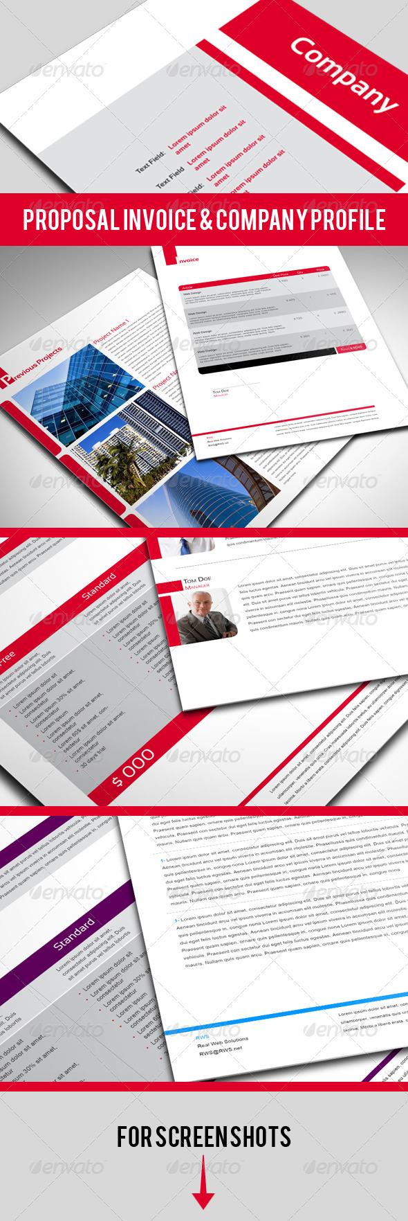 GraphicRiver Professional Proposal Contract Invoice 563179
