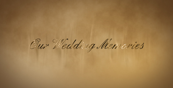 After Effects Project - VideoHive Wedding gold words 1874252