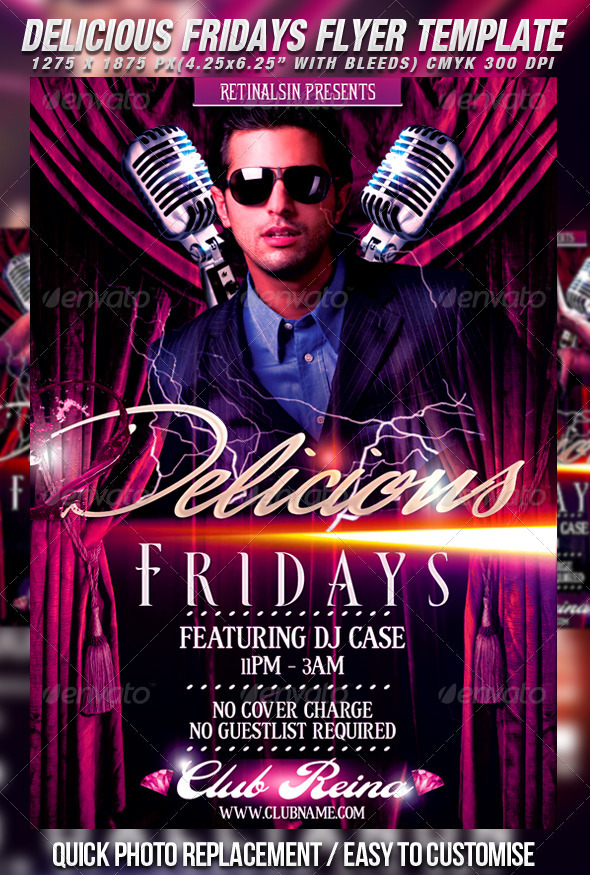 GraphicRiver Delicious Fridays Flyer Template 461049