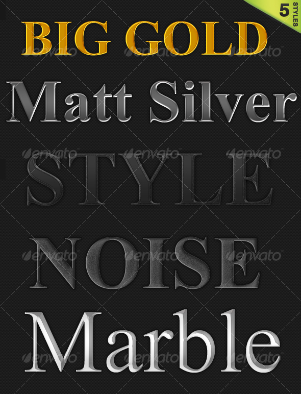 GraphicRiver 5 Styles Pack 59110