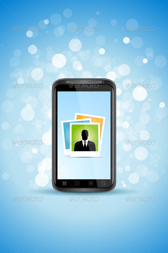 Graphic River Business Background with Modern Smart-phone Vectors -  Conceptual  Technology  Communications 1875402