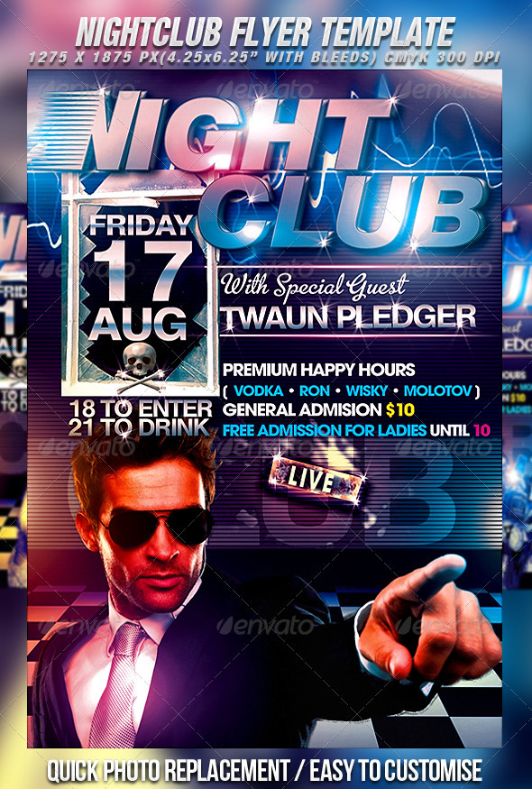 GraphicRiver Nightclub Flyer Template 309728