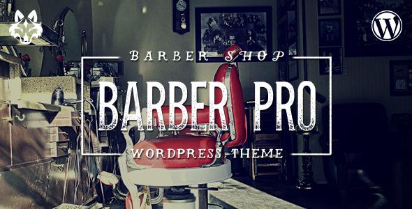 barber pro professional barber shop wordpress theme