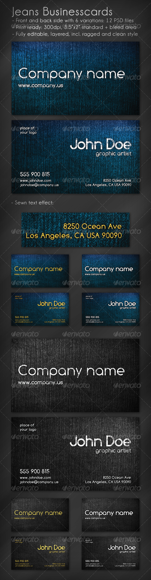 GraphicRiver Jeans Business Card 73189