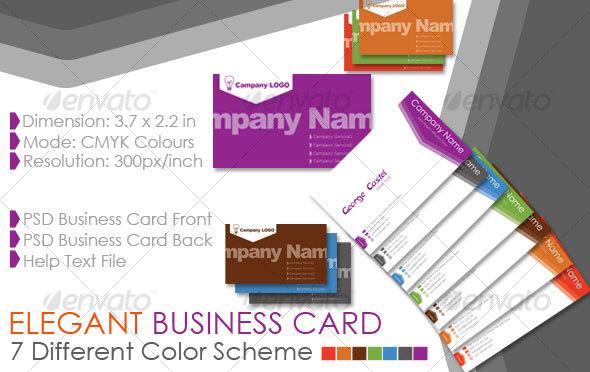GraphicRiver Elegant Business Card 73312