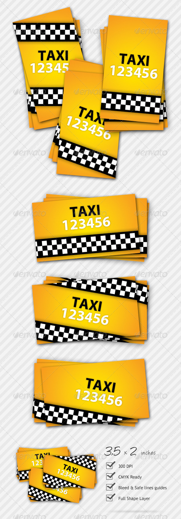 GraphicRiver Premium Taxi Business Card 127161