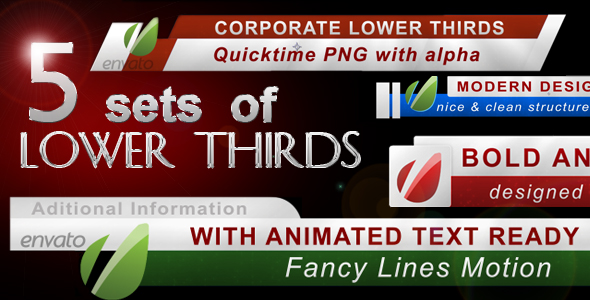 After Effects Project - VideoHive 5 Lower Thirds FULL HD 222814