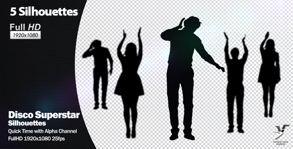 VideoHive Disco Superstar Silhouettes 1741016