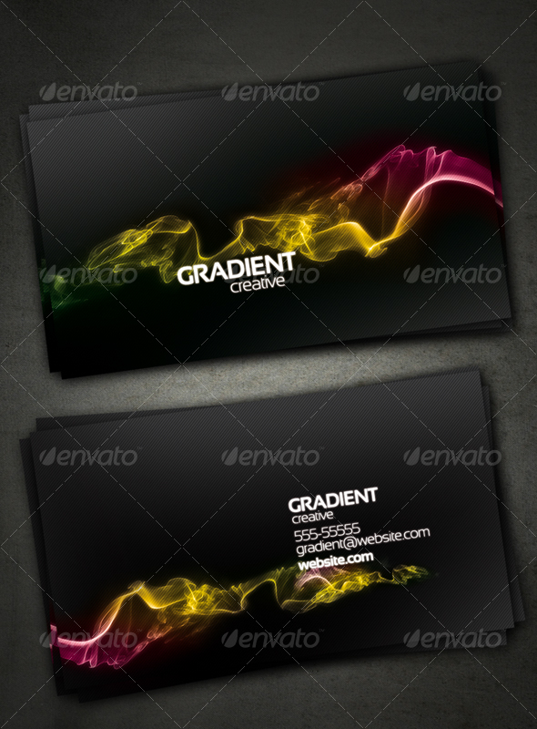 GraphicRiver Gradient Creative Card 73065
